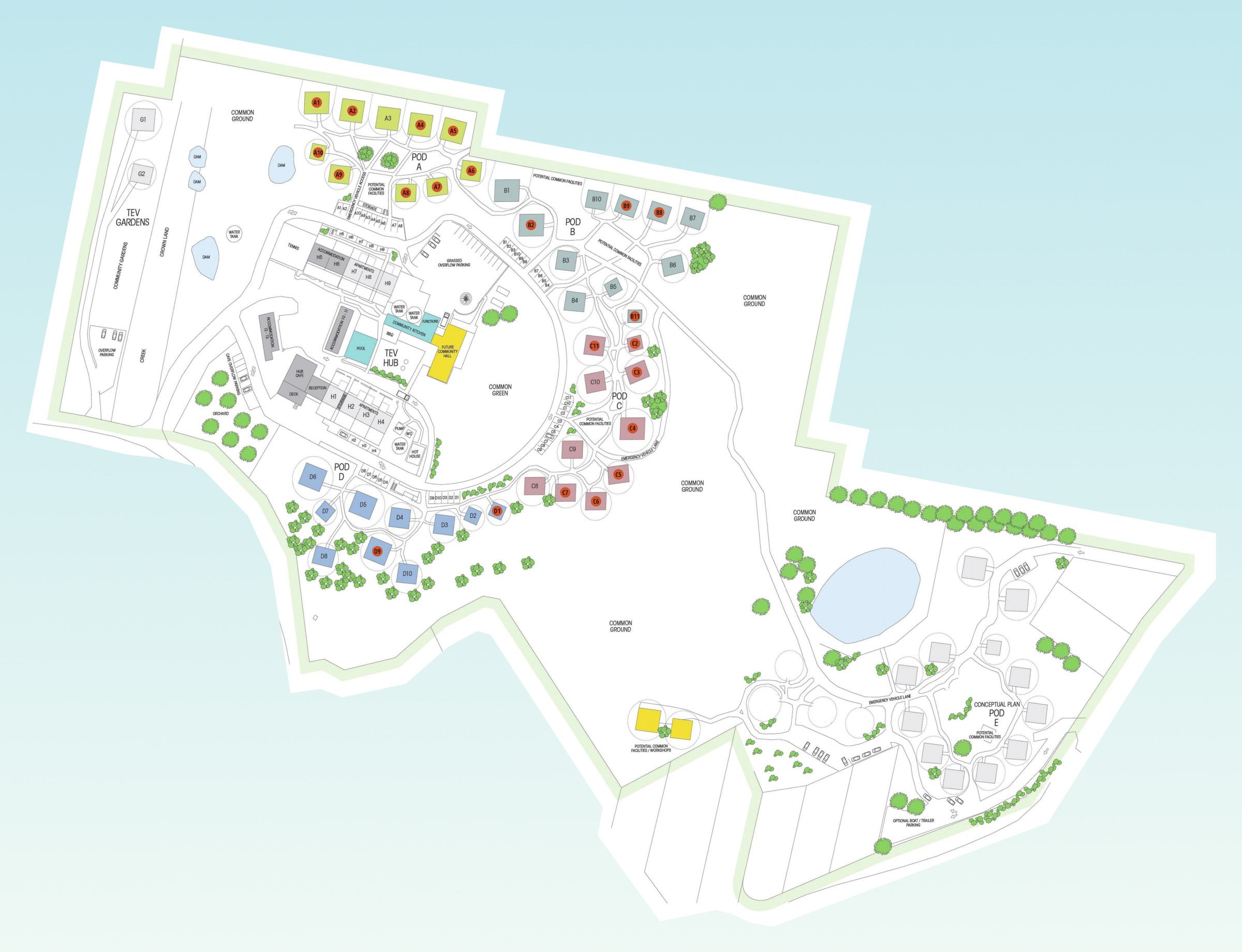 Tasman Ecovillage map